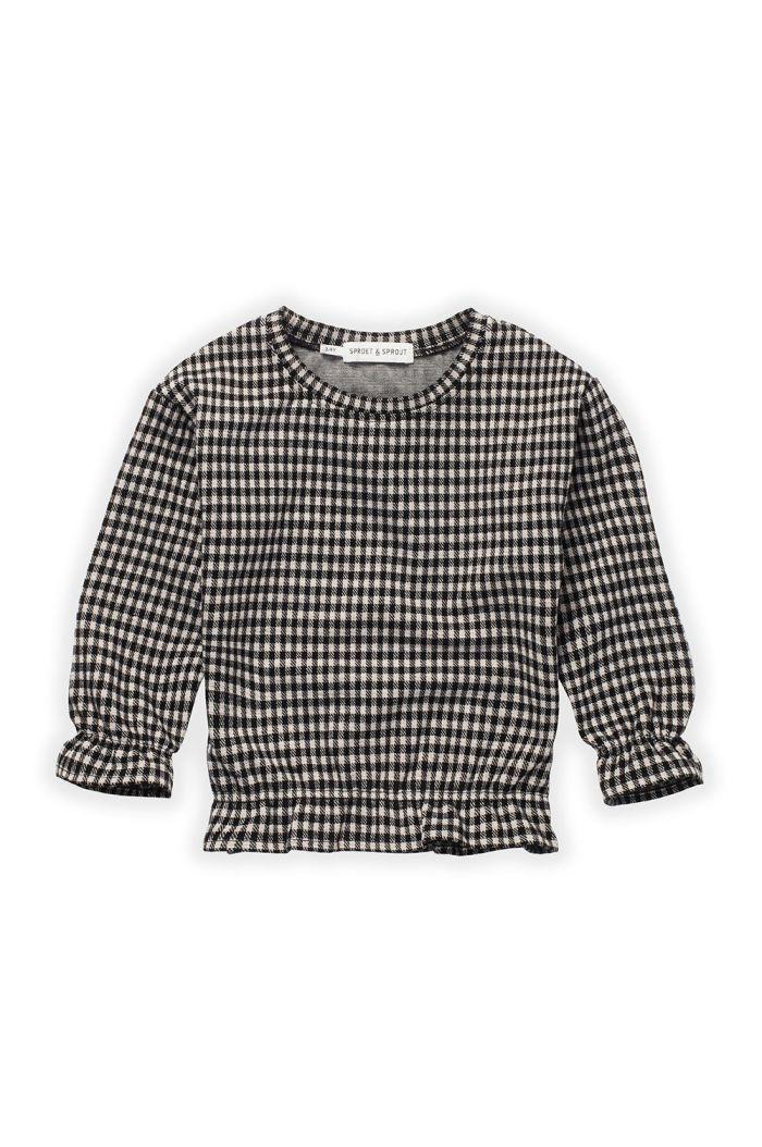 Sproet & Sprout Sweatshirt Ruffle Block Check Black_1