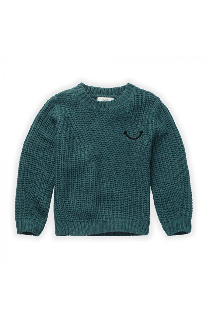 Sproet & Sprout Sweater Smile Pine Green_1