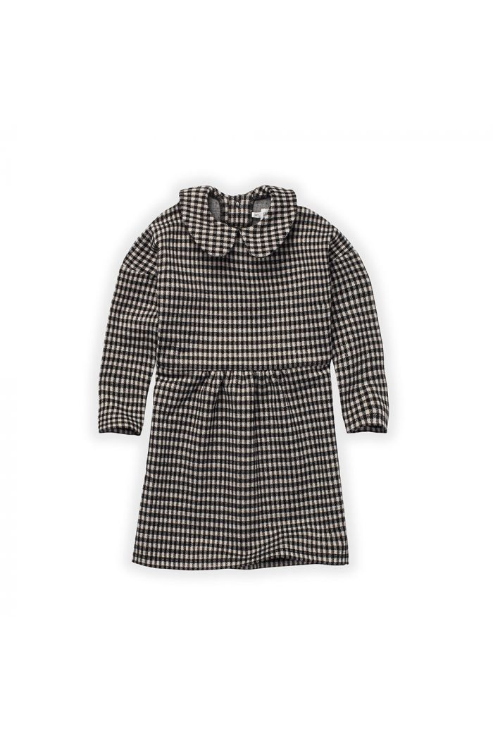 Sproet & Sprout Dress Collar Block Check Black_1