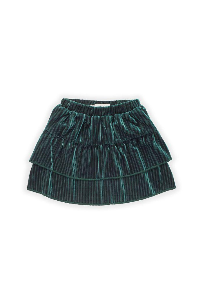 Sproet & Sprout Skirt Velvet Pleats Pine Green_1
