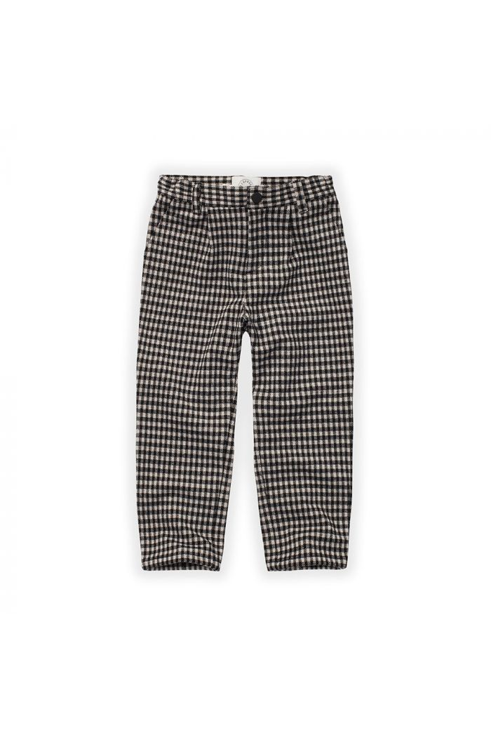 Sproet & Sprout Chino Pants Block Check Black_1
