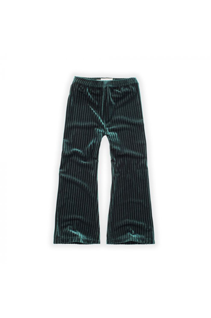 Sproet & Sprout Pants Velvet Pleats Pine Green_1