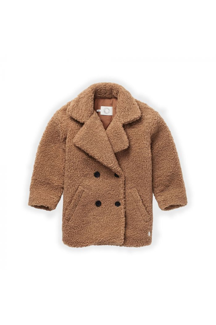 Sproet & Sprout Teddy Coat Nougat_1