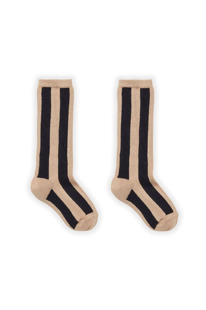 Sproet & Sprout Sock Stripe Nougat_1