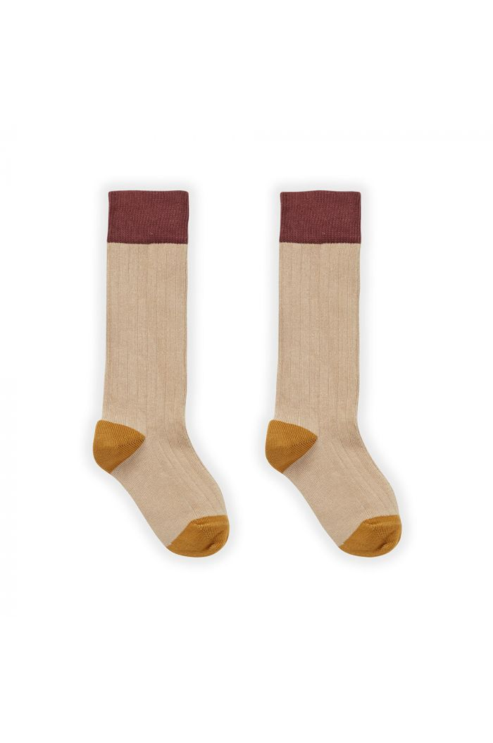 Sproet & Sprout Sock Colorblock Nougat_1