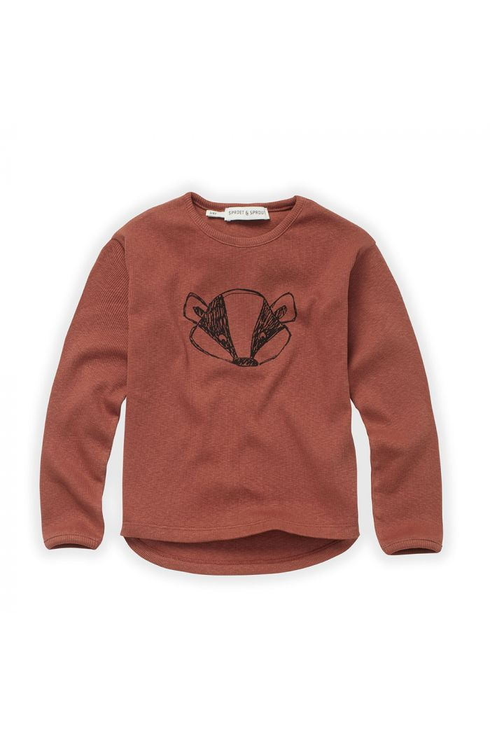 Sproet & Sprout T-shirt Rib Badger Auburn_1