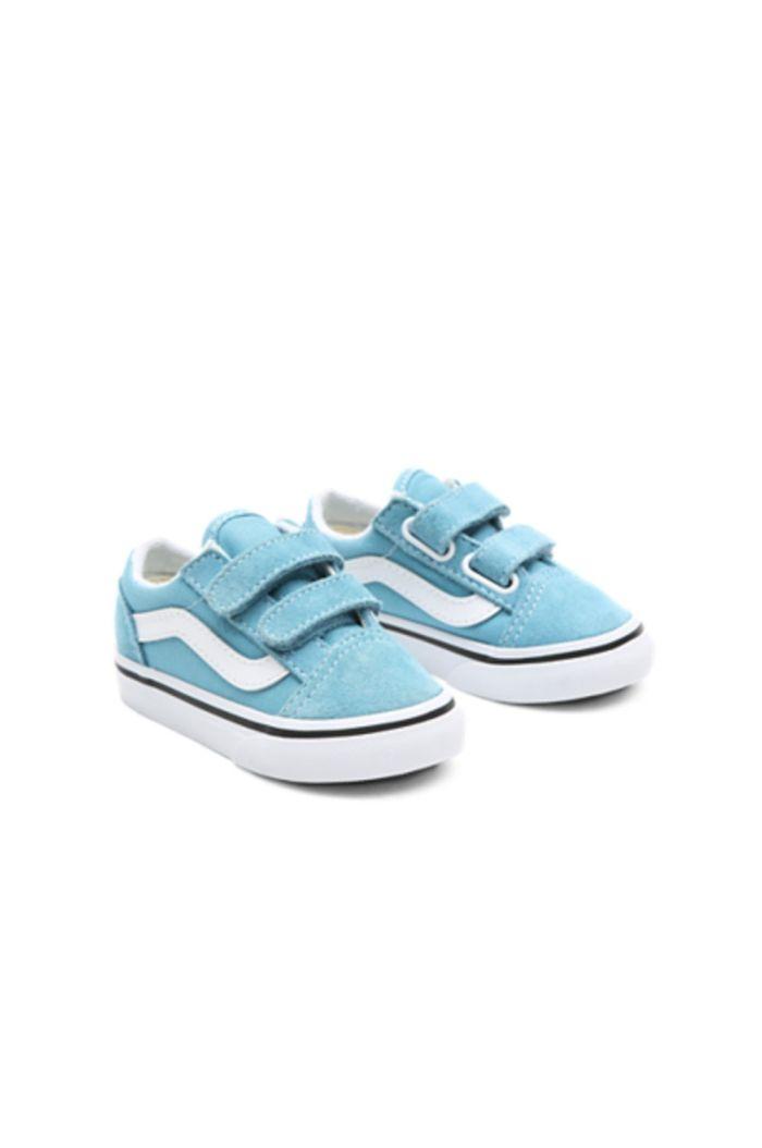 Vans Toddler Old Skool V Delphinium Blue/True White_1