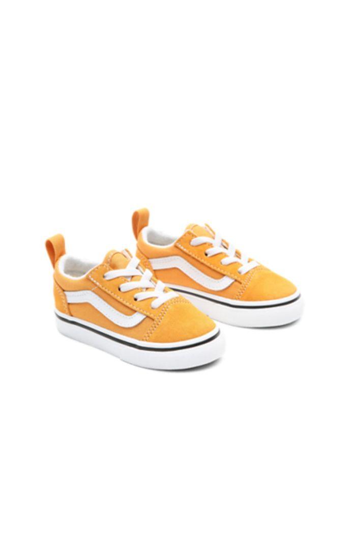 Vans Toddler Old Skool Elastic Lace Golden Nugget/True White_1