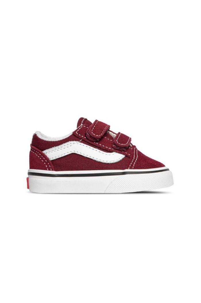 Vans Toddler Old Skool V Pomegranate/True White_1