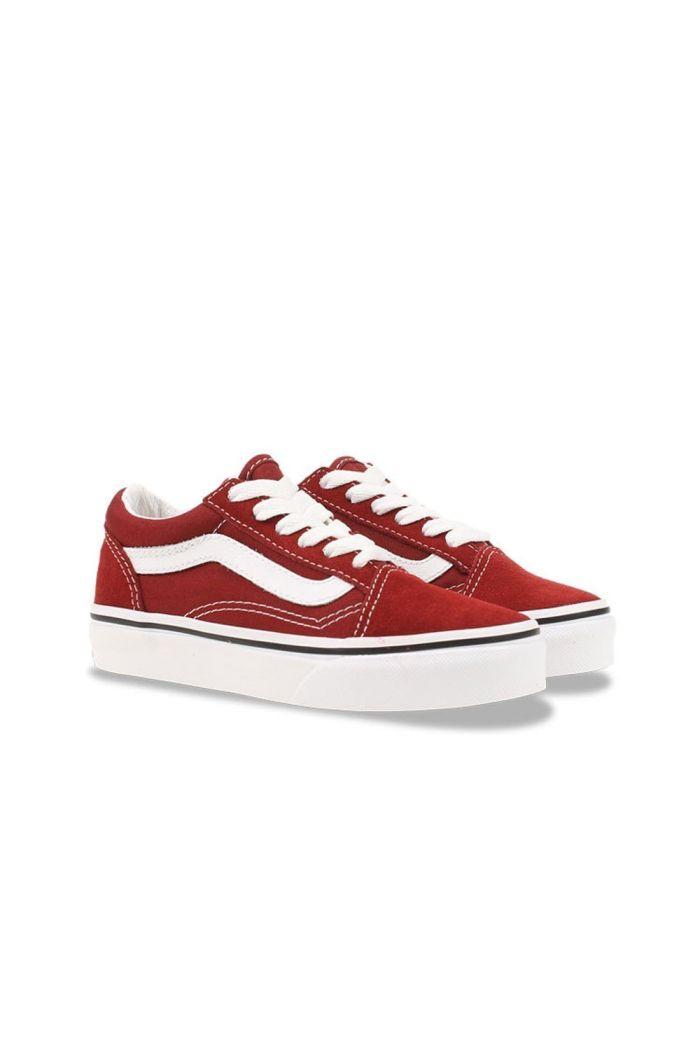 Vans Youth Old Skool Pomegranate/True White_1