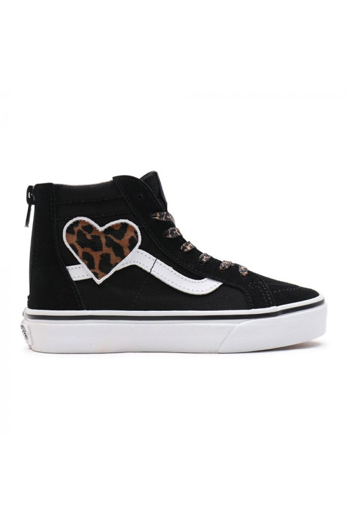 Vans Youth SK8-Hi Zip (Leopard Fur) Heart/Black_1