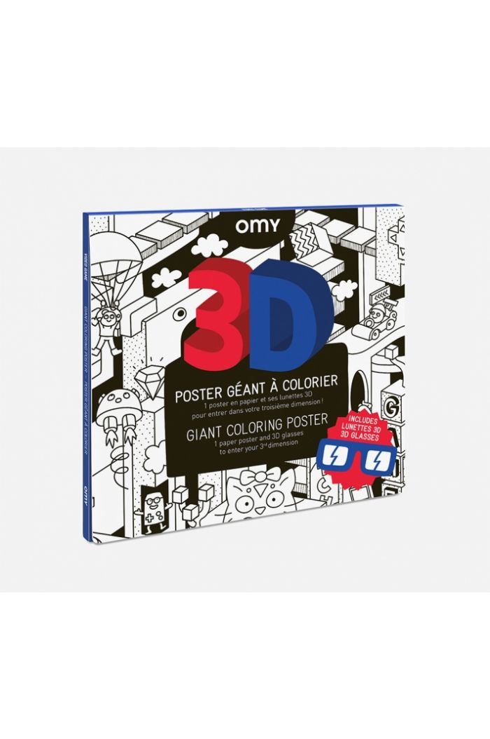 OMY Giant Coloring Poster 3D Video Games