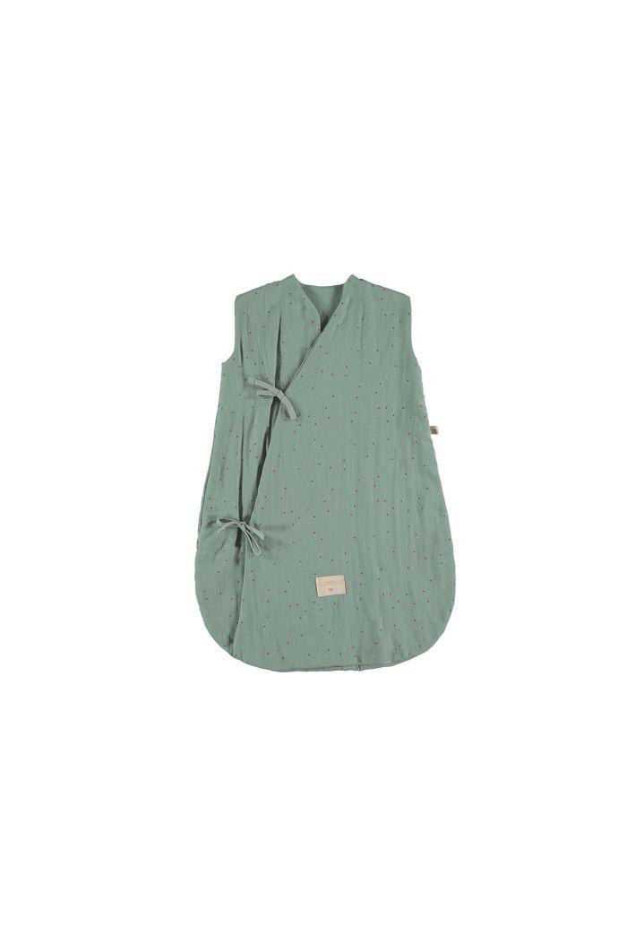 Nobodinoz Dreamy Summer Sleeping Bag Toffee Sweet Dots / Eden Green