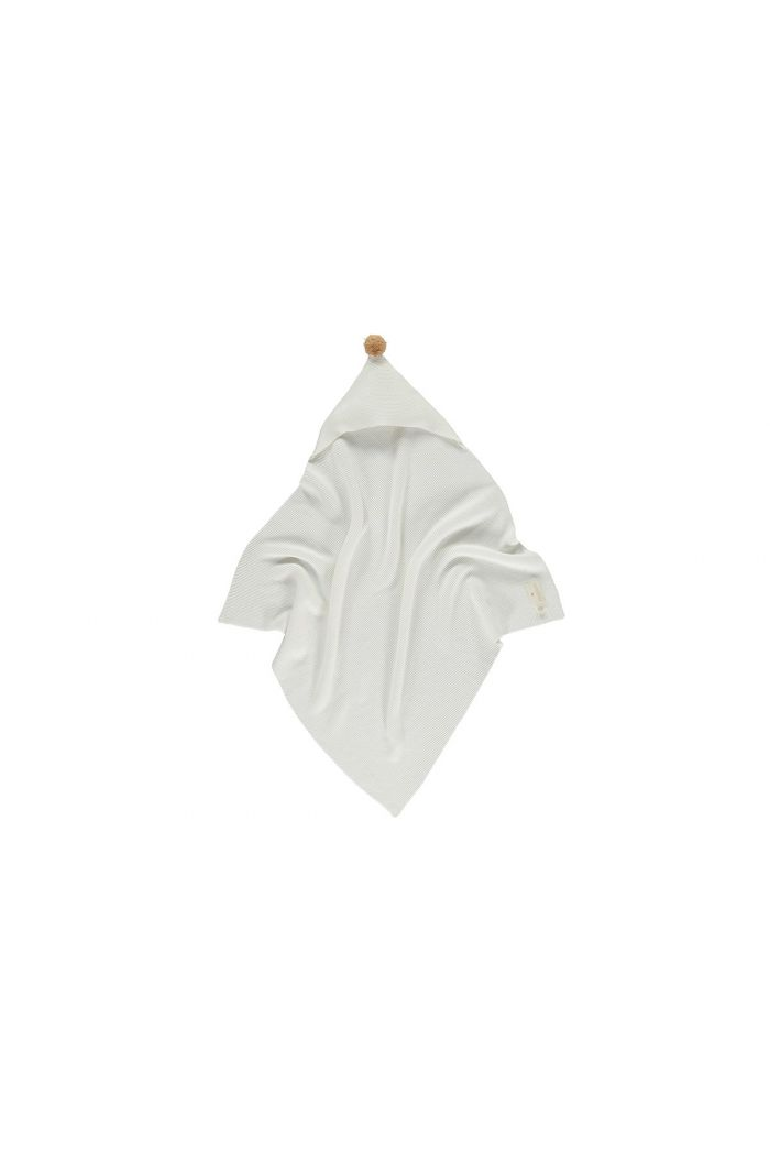Nobodinoz So Natural Knitted Baby Cape 65x65 Milk