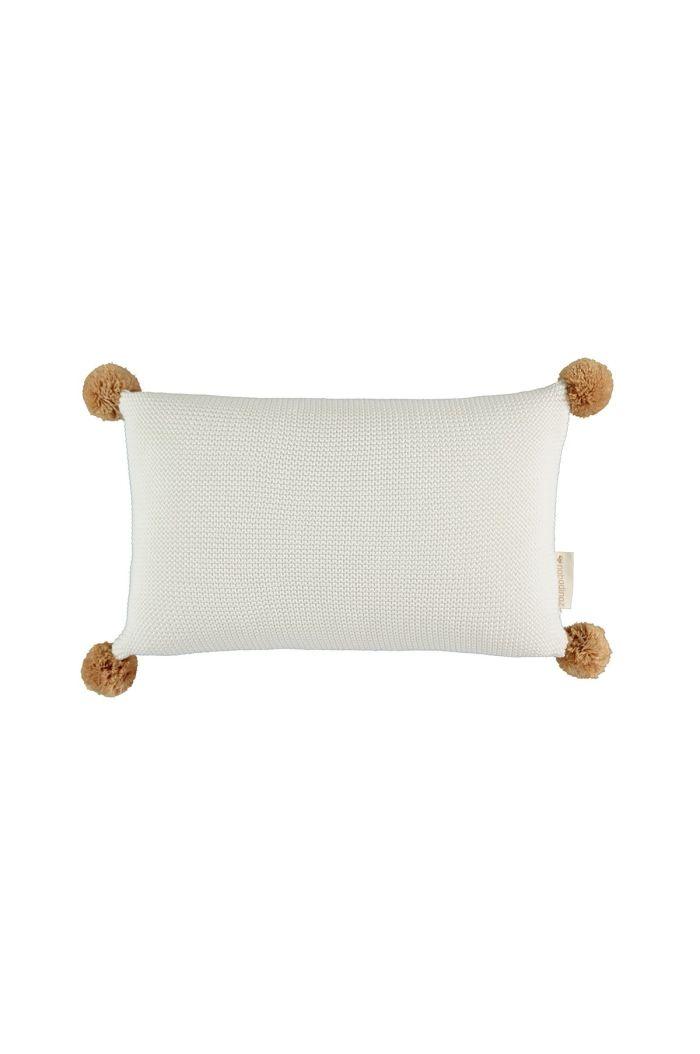 Nobodinoz So Natural Knitted Cushion Milk