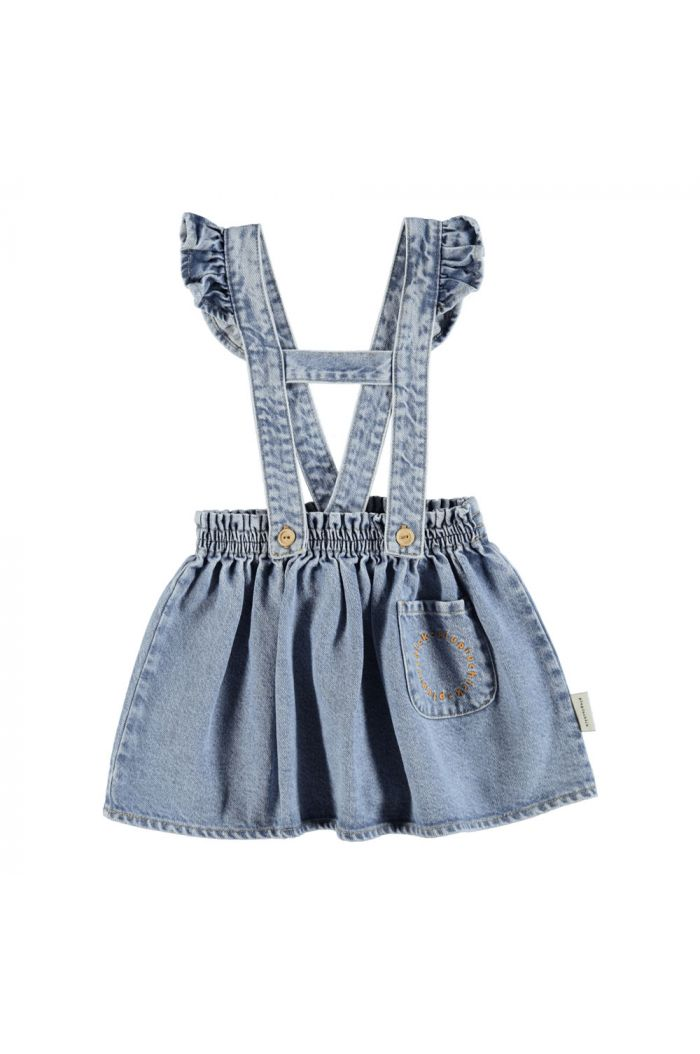 Piupiuchick Short Skirt W/ Straps light blue denim_1