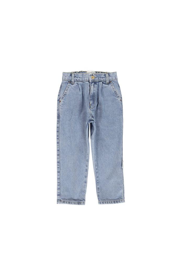 Piupiuchick Unisex trousers jeans light blue denim_1