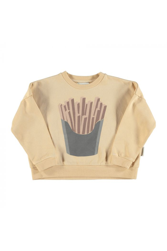 Piupiuchick Unisex sweatshirt caramel with french fries print_1