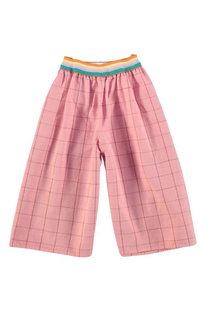 Piupiuchick Culottes Vintage Pink &  Garnet Checkered_1