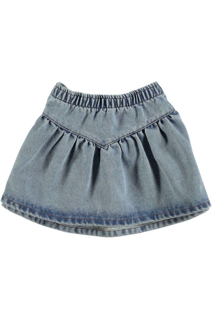 Piupiuchick Mini Skirt Light Blue Washed Denim _1