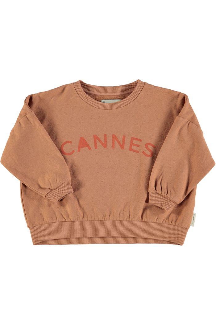 "Piupiuchick Unisex Sweatshirt Nut With ""Cannes"" Print_1"