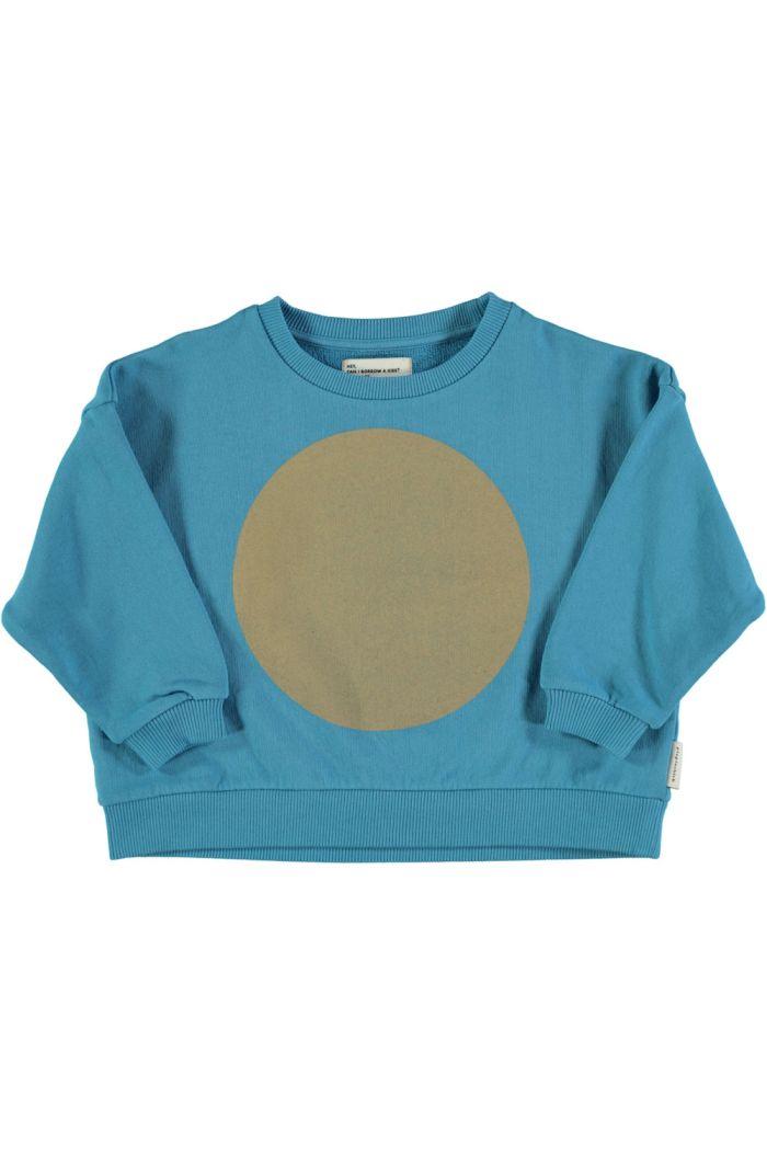 "Piupiuchick Unisex Sweatshirt Deep Blue With ""Rec"" Print_1"
