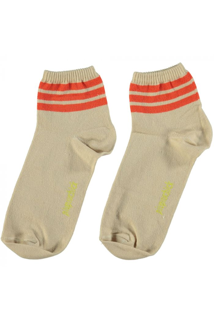 Piupiuchick Socks Sand With Garnet Stripes_1