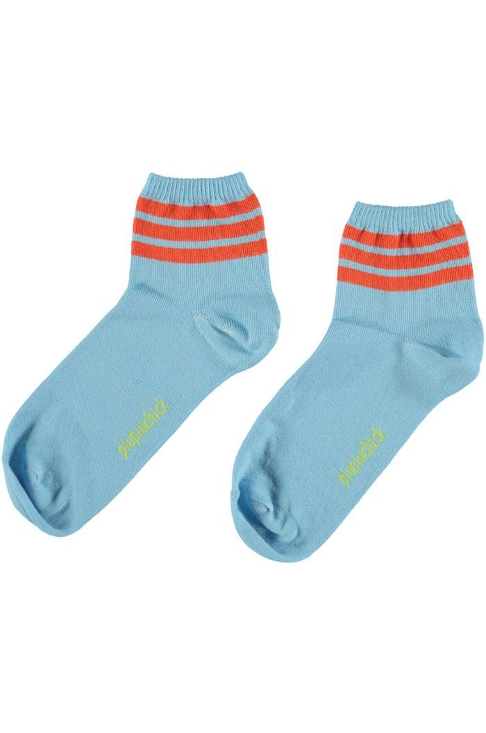 Piupiuchick Socks Blue With Garnet Stripes_1