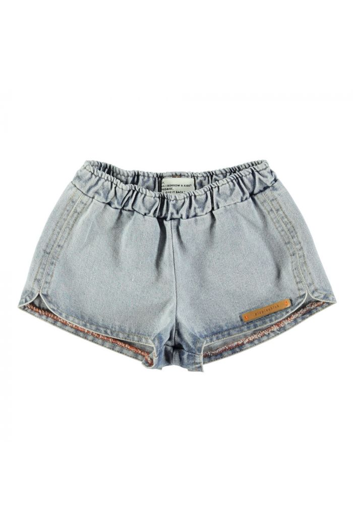 Piupiuchick Runner Shorts Washed Blue Jeans_1