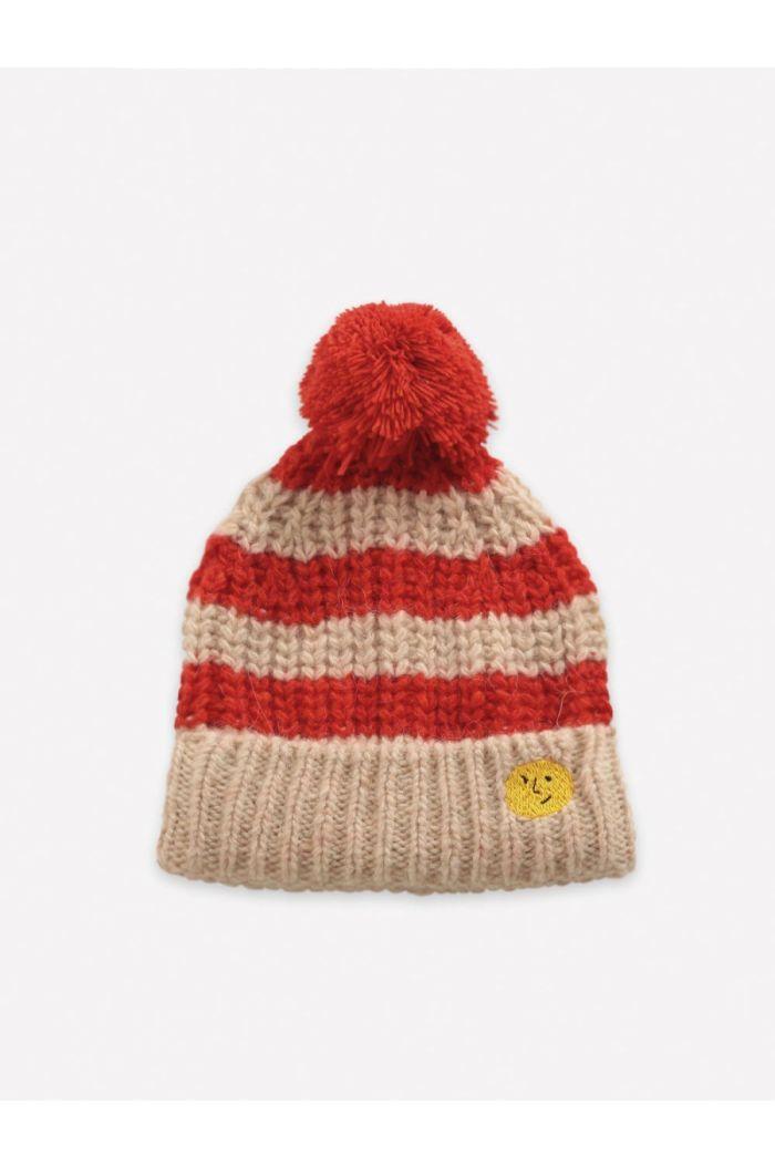 Bobo Choses Stripped knitted beanie  Fiesta_1