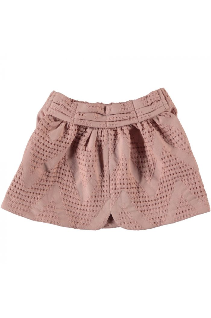 Piupiuchick Short Skirt With Front Bow Ligt Pink_1