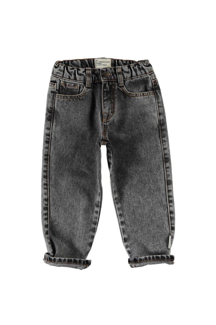 Piupiuchick Unisex Denim Trousers Washed Black Denim_1