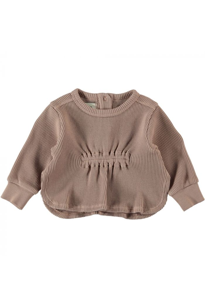 Piupiuchick Long Sleeve With Wrinkled Front Light Brown_1