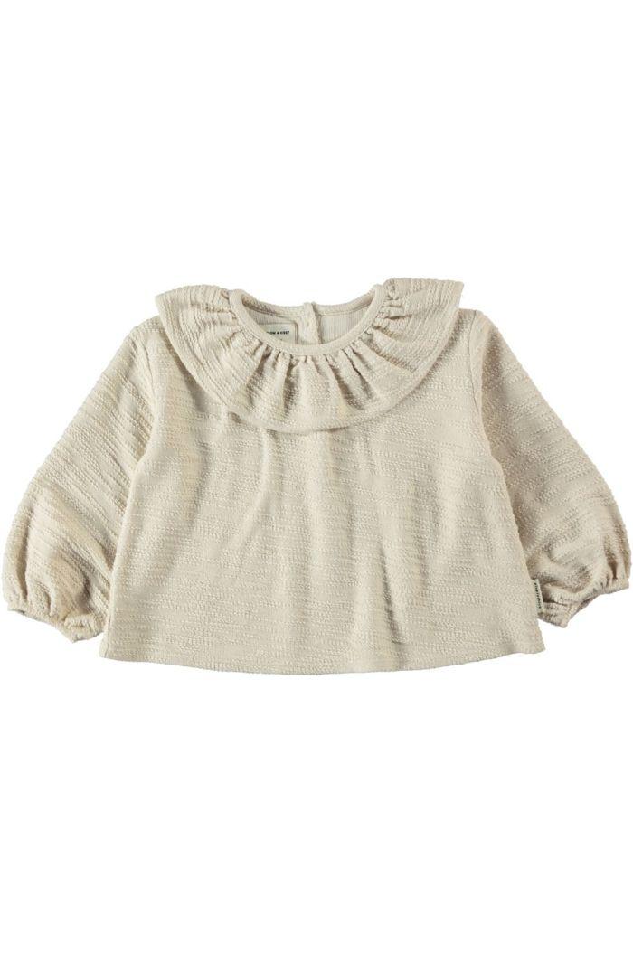 Piupiuchick Round Collar Blouse Ecru_1