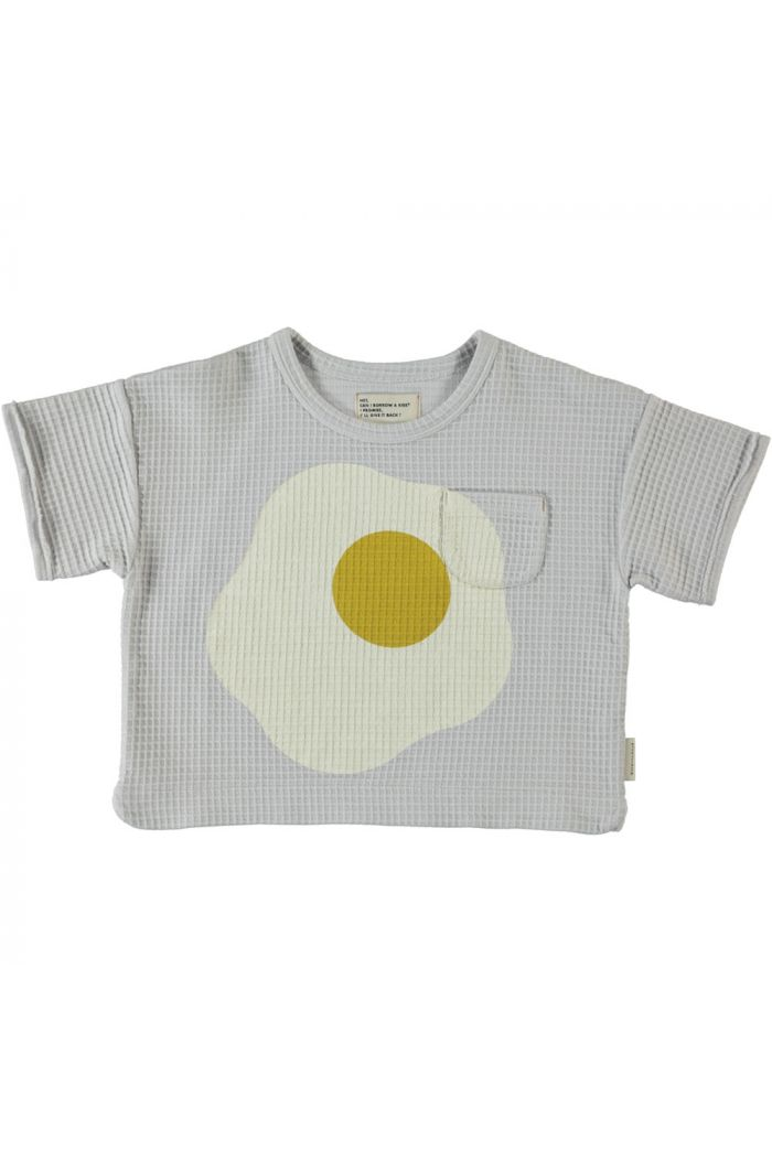 Piupiuchick Honeycomb T-Shirt Light Grey_1