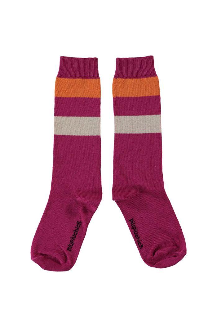 Piupiuchick High Socks Fuchsia_1