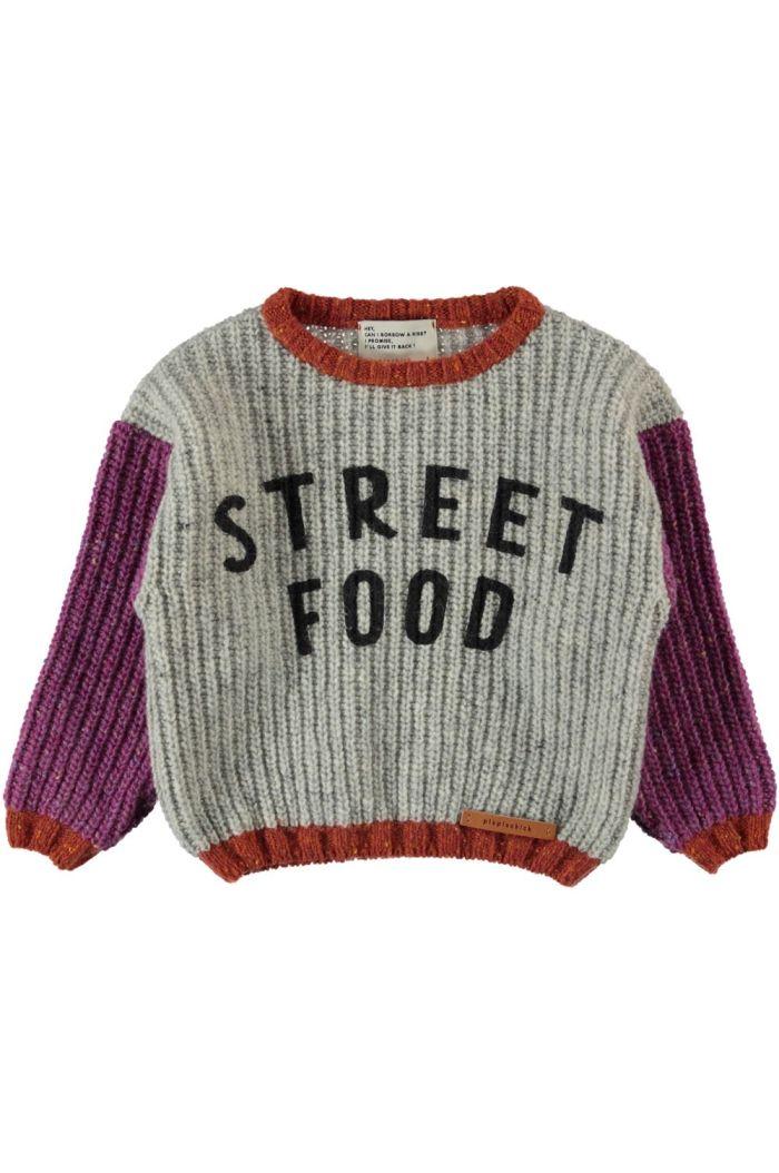 Piupiuchick Knitted Sweater Light Grey_1