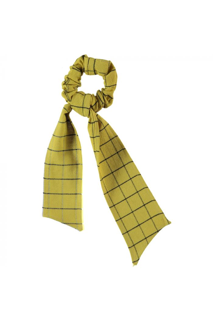 Piupiuchick Elastic Hair Band Checkered Toasted Yellow_1