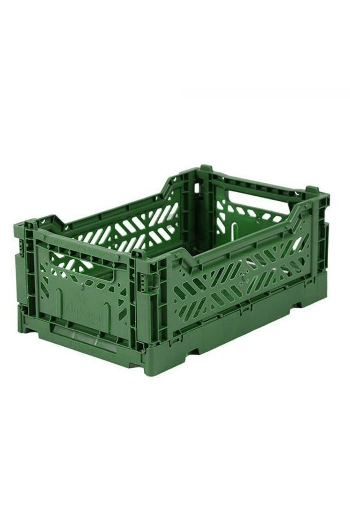 Ay-Kasa Folding Crates Dark Green