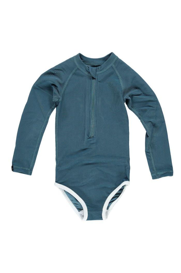 Beach & Bandits Ocean Ribbed Longsleeve Suit Hydro Blue