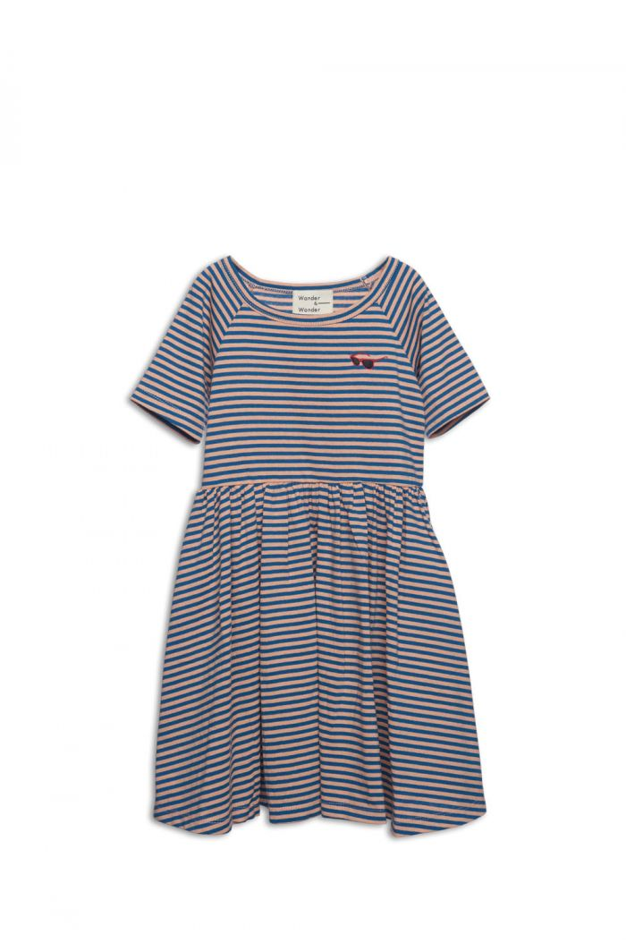 Wander & Wonder Marine Dress Teal Stripe