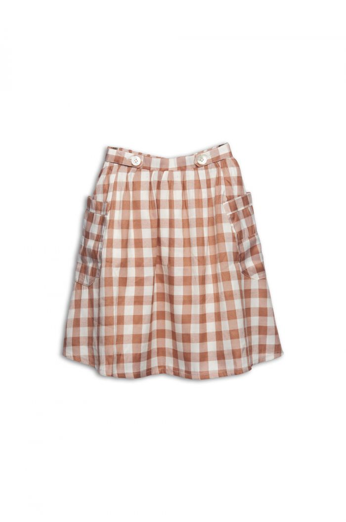 Wander & Wonder Two Pockets Skirt Butter Check