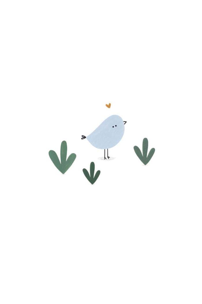Klein Liefs kaart vogeltje