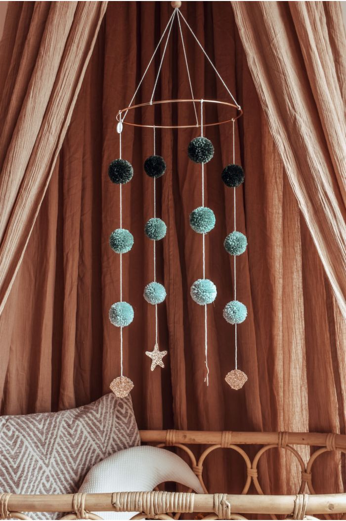Cotton Design Pompom Mobile Sea
