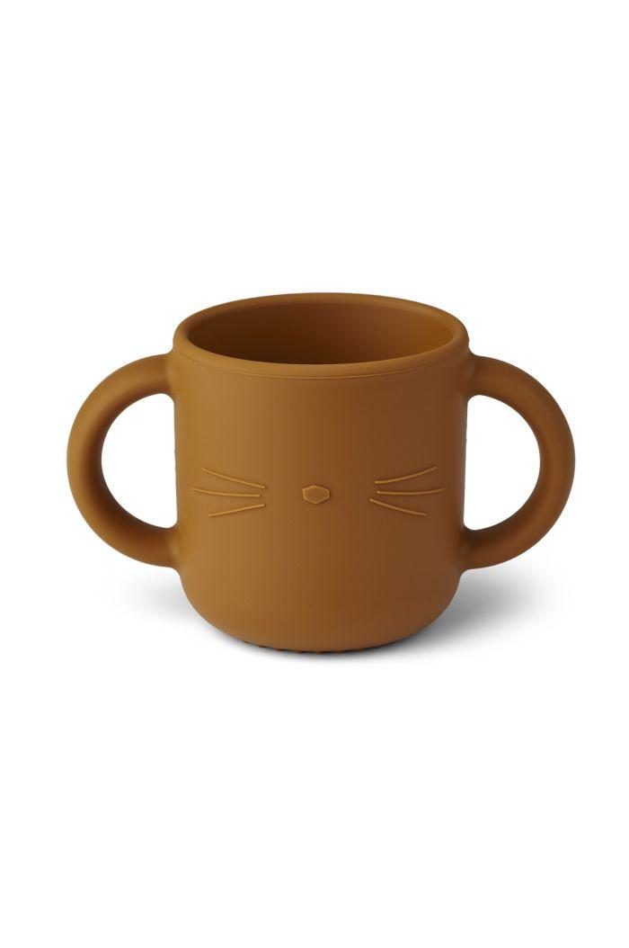Liewood Gene cup Cat mustard_1