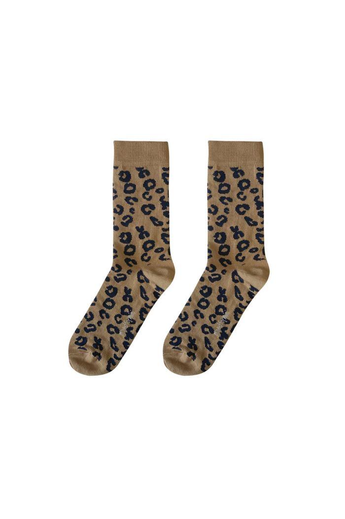 Maed for Mini Mama socks Brown Leopard_1