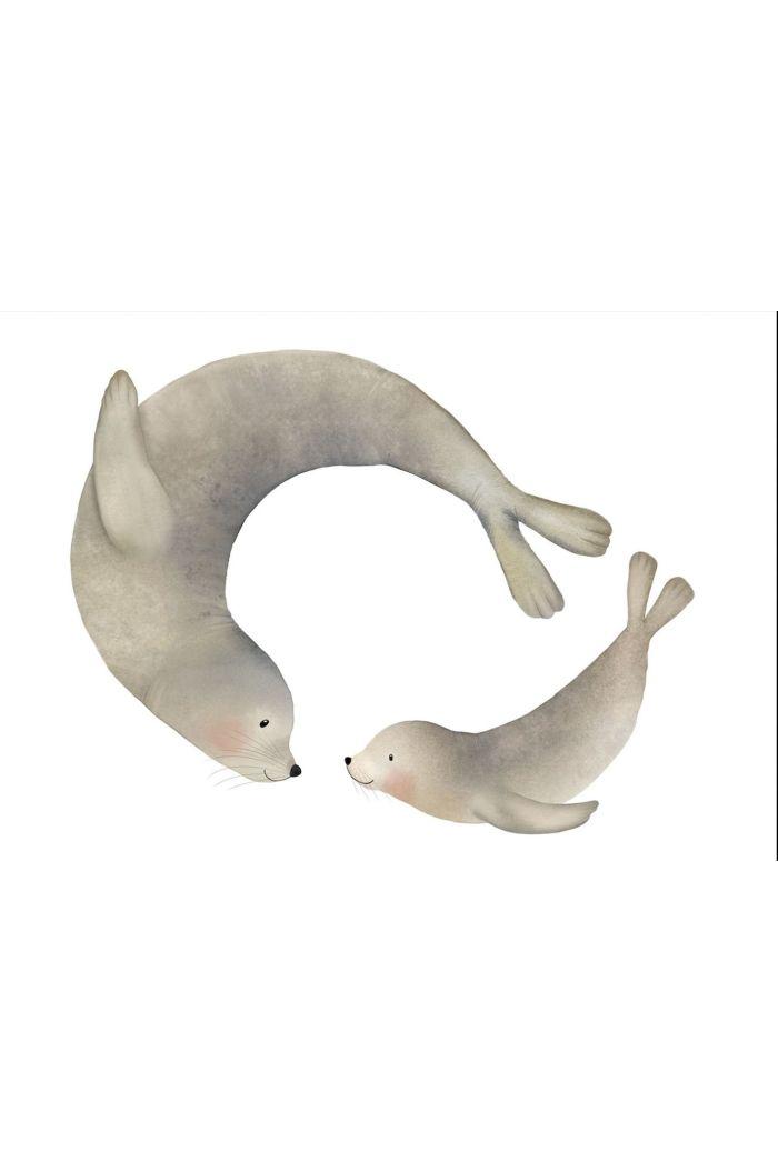 Getekenddoorzusje kaart zeehonden _1