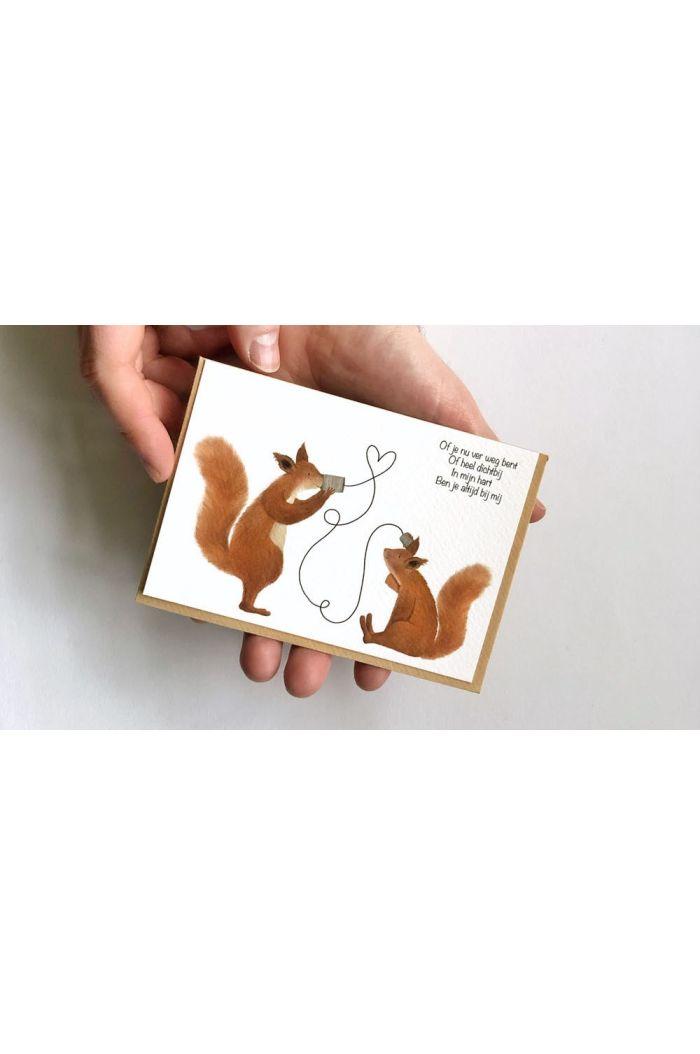 Getekenddoorzusje kaart eekhoorns bij mij _1