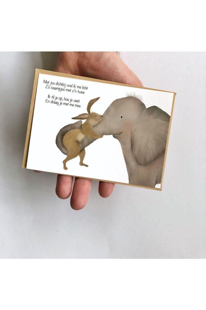 Getekenddoorzusje kaart olifant/konijn _1