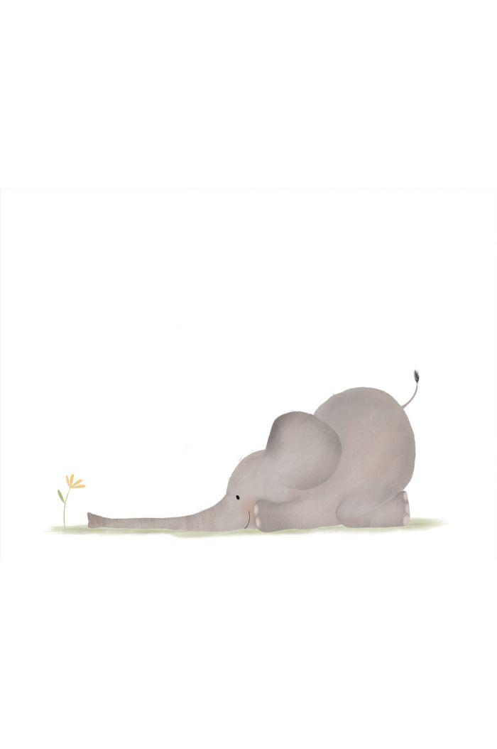 Getekenddoorzusje kaart olifantje speelt _1
